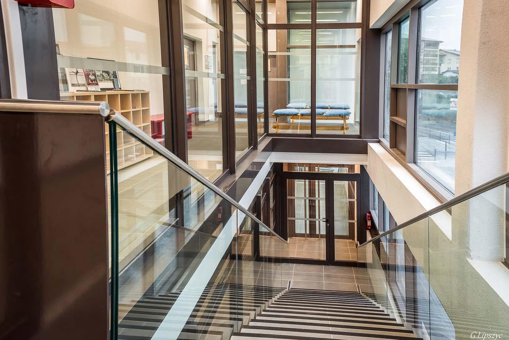 Escalier de l'école de Ballet - Studios Biarritz