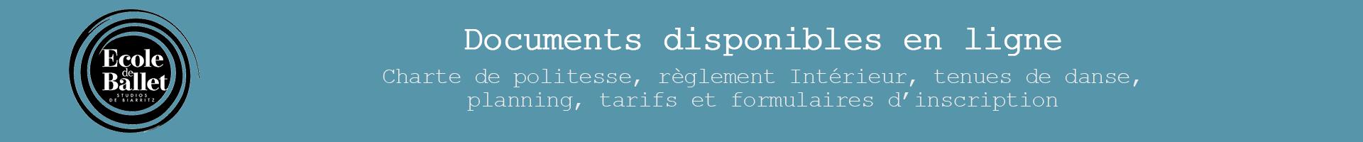 Ecole de Ballet Studios de Biarritz Banner documents en ligne